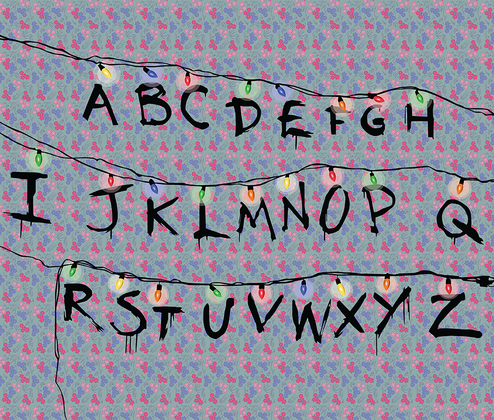Stranger Things Lit Up Alphabet Oddball Era